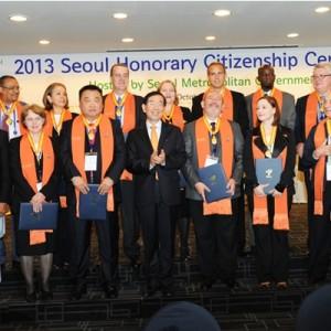 2013 ソウル名誉市民として15人を選定