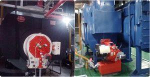 ボイラーのバーナー交換により、窒素酸化物200トンを削減