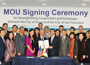 ソウル市、サンフランシスコとの40年間にわたる友情を実質的な協力により強化する