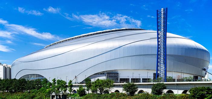 韓国一の複合体育文化施設、コチョク(高尺)スカイドーム