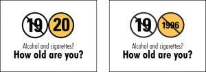 紛らわしい酒・タバコの販売禁止 正確な年齢を表記