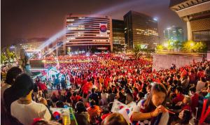 ソウル市民のワールドカップ・パブリックビューイングの熱気