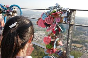 ナムサン(南山)タワーの「愛の南京錠」