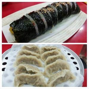 201403韓国 마포만두で夕食