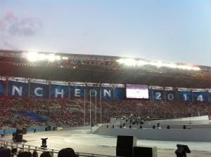 少し前になりますが仁川アジア競技大会開会式の様子の記事を書いています☆