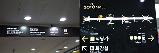 「Go To Mall」の案内板