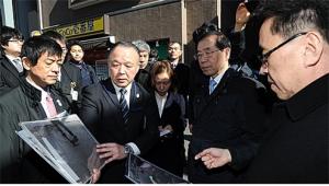 """パク・ウォンスン(朴元淳)市長「道路陥没の主原因""""老朽化した下水管""""、国費支援が切実」"""