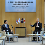 パク・ウォンスン(朴元淳)市長 東京都知事と「都市安全」など6分野で協力共同宣言