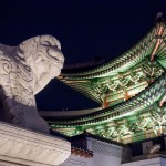 ライトアップされた光化門(クァンファムン)はスゴくきれいでした