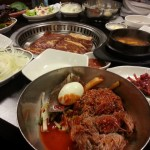 テジカルビ と 冷麺