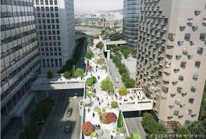 ソウル駅高架 テウ財団など近隣ビル5棟に直結