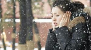 ソウル市で初雪☃