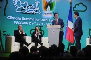 パク市長 都市レベル温室効果ガス削減「パリ宣言文」共同採択