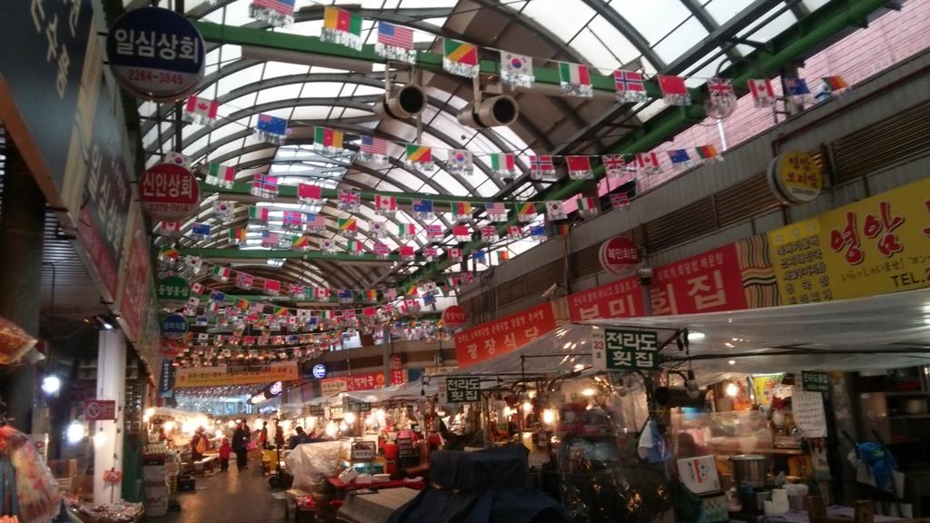 広蔵市場で김밥♡