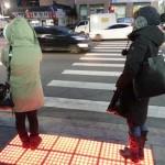 ソウル市の光る横断歩道