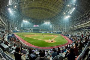 「Hello~プロ野球!これからはドームで」 高尺スカイドーム、シーズン開幕を迎え大々的に施設改善