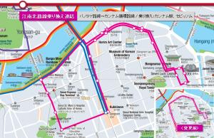 ソウルシティツアーバス、江南・江北間乗り換え運行開始