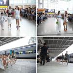 ソウル駅で開かれたソウル365ファッションショー