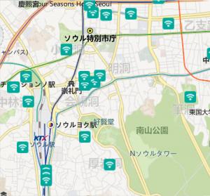 Korea WiFi Map 。