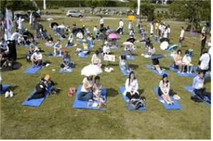 ハンガン(漢江)「ぼーっとする大会」開催