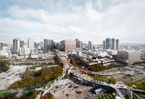 5月20日オープン、国内初の高架歩行路「Seoullo 7017」