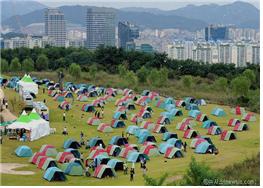 ソウルのユニークなキャンプ場