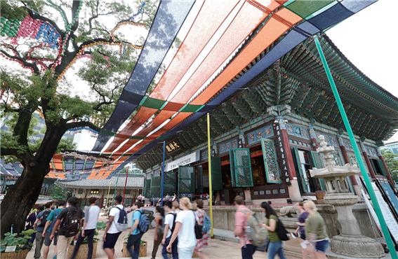 ソウルの中心でヒーリングできるチョゲサ(曹渓寺)
