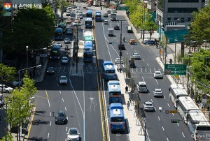 ソウル市、12月31日にチョンノ(鍾路)区間2.8kmの中央バス専用道路を開通