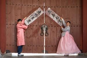 ナムサン・ハノクマウル(南山韓屋村)立春イベント