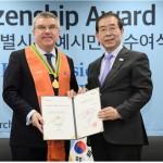 トーマス・バッハ会長、「ソウル市名誉市民」に