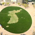 ソウル広場の韓半島花地図