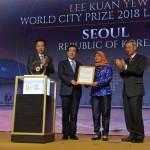 パク・ウォンスン(朴元淳)市長、「偉大なる市民による快挙」としてリー・クアンユー世界都市賞を受賞