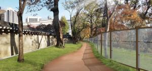 トクスグン(徳寿宮)石垣道、これまで未開放だった70mの区間も10月に完全開放