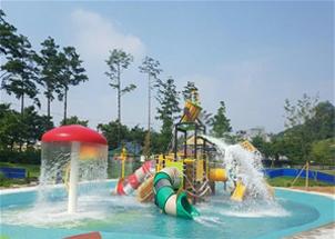 ソウル市、チュンナン(中浪)キャンプの森公園に造成したウォーターパークを8日より本格的にオープン