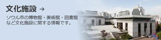 文化施設 → ソウル市の博物館・美術館・図書館など文化施設に関する情報です。