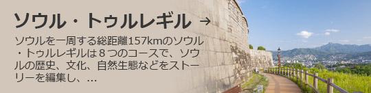 ソウル・トゥルレギル → ソウルを一周する総距離157kmのソウル・トゥルレギルは8つのコースで、ソウルの歴史、文化、自然生態などをストーリーを編集し、...