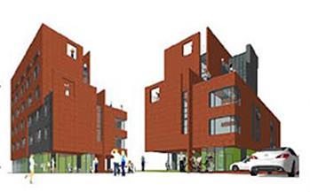 シンプルな3Dプログラムにより設計事務所が簡単に作成した建物の外観