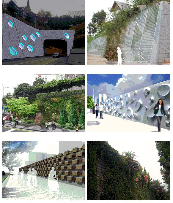 擁壁、防音壁の外観改装事業