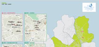 『ソウル建築ガイドブック』「近現代建築」のうち、自治区別分類