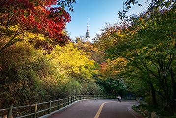 ソウルの秋の風景、ナムサン(南山)公園