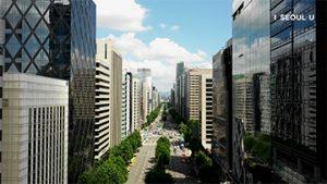 ソウル上空からの映像 – テヘラン路