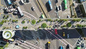 ソウルの上空からの映像 – ソウルロ7017