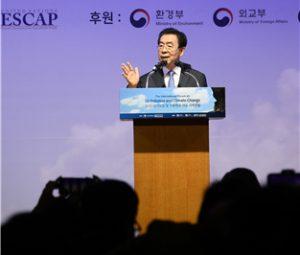 ソウル市長、ソウル市大気汚染低減及び気候変動への対応をテーマに特別演説を披露