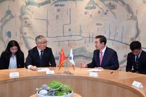 ソウル市長、中国天津市の張国清市長とデジタル経済、スマートシティなどの協力について議論
