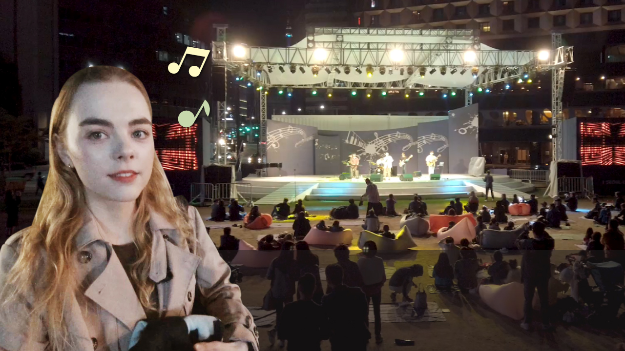 文化が流れるソウル広場