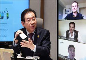 ソウル市長、グローバルリーダーと「新型コロナウイルス感染症に関するビデオセミナー」開催