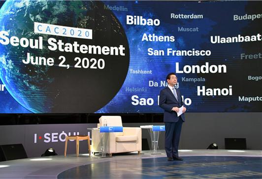 ソウル市長、世界の都市に向けて「感染症に共同対応するための国際機関」の設立を提案