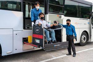 ソウル施設公団、車いす利用者の移動をサポートする「ソウル障害者バス」を導入