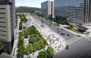 市民の願いを叶えるため、クァンファムン(光化門)広場が休むにも歩くにも楽しい広場に変わる