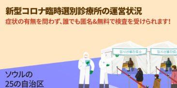 ソウル市民なら誰でも新型コロナの検査が可能な臨時選別診療所を追加で設置